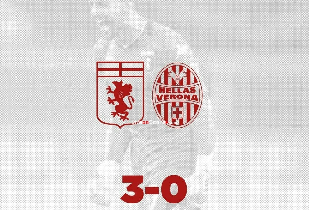 Genoa 3-0 Verona Goles y resultado - Serie Tim A