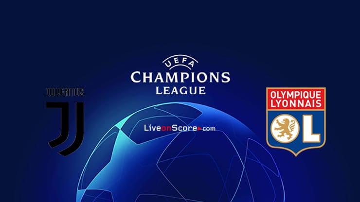 Juventus vs Lyon Predicción y predicción Transmision en vivo UEFA Champions League 1/8 Final 2020