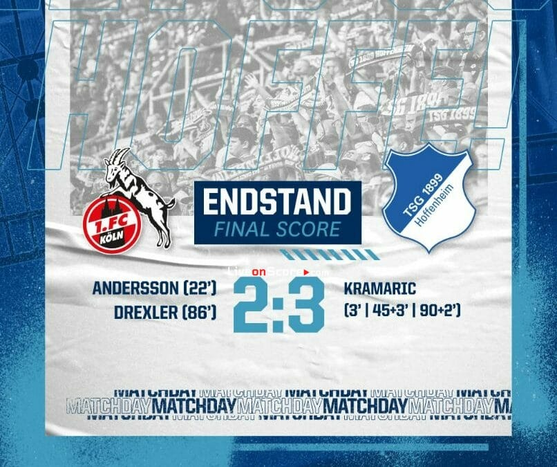 FC Koln 2-3 Hoffenheim Full Highlight Video – Bundesliga