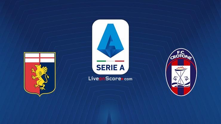 Genoa vs Crotone Preview and Prediction Live stream Serie Tim A 2020/21