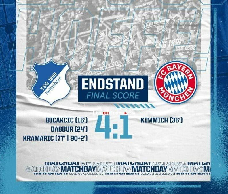 Hoffenheim 4-1 Bayern Munich Full Highlight Video – Bundesliga
