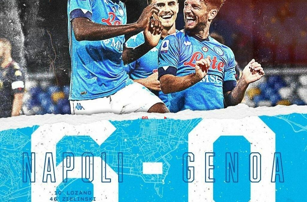 Napoli 6-0 Genoa Goles y resultado - Serie Tim A