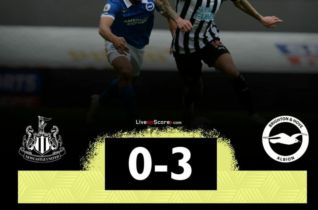 Newcastle 0-3 Brighton video completo destacado - Premier League