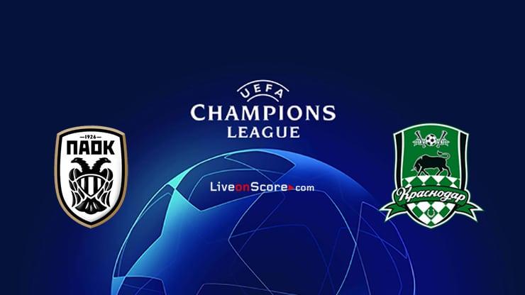 PAOK vs Krasnodar Preview and Prediction Live Stream Champions League – Qualification 2020/21