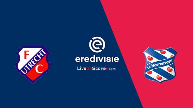 Previa y predicción Utrecht vs Heerenveen Transmision en vivo - Eredivisie 2020/21