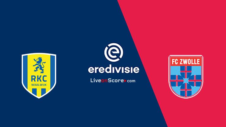 Previa y predicción de Waalwijk vs Zwolle Transmision en vivo - Eredivisie 2020/21