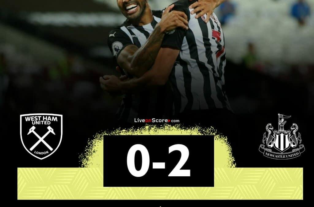 West Ham 0-2 Newcastle Goles y resultado - Premier League