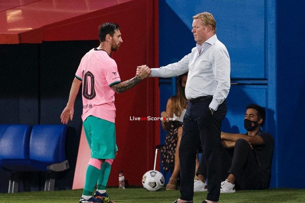 Lionel Messi anota dos goles en un amistoso tras volver a los entrenamientos del Barcelona