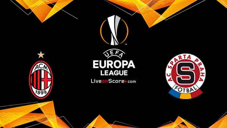 Previa, Predicciones y Pronostico AC Milan vs Sparta Praga Transmision en vivo UEFA Europa League 2020/2021