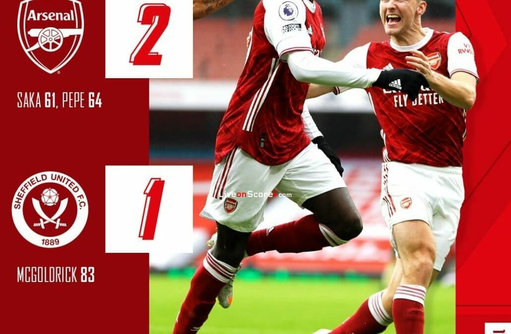 Arsenal 2-1 Sheffield Utd Full Highlight Video – Premier League