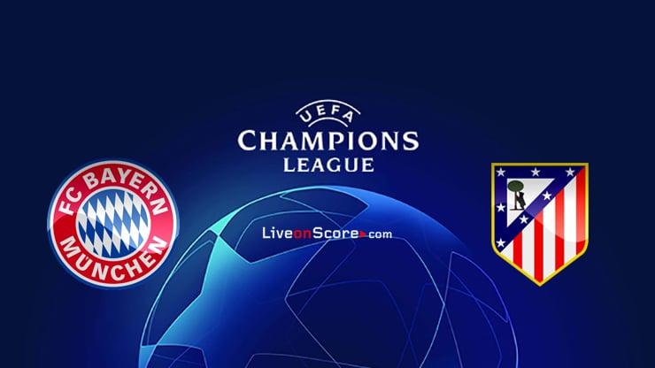 Bayern de Múnich vs Atl. Previa y predicción de Madrid Transmision en vivo UEFA Champions League 2020/2021