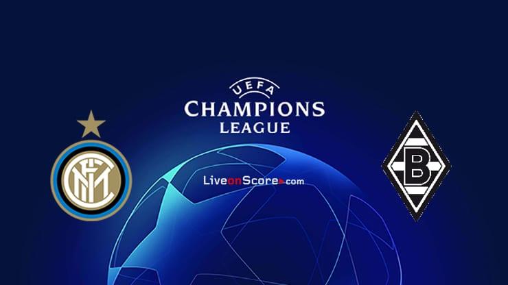 Inter vs B. Monchengladbach Predicción y predicción Transmision en vivo UEFA Champions League 2020/2021