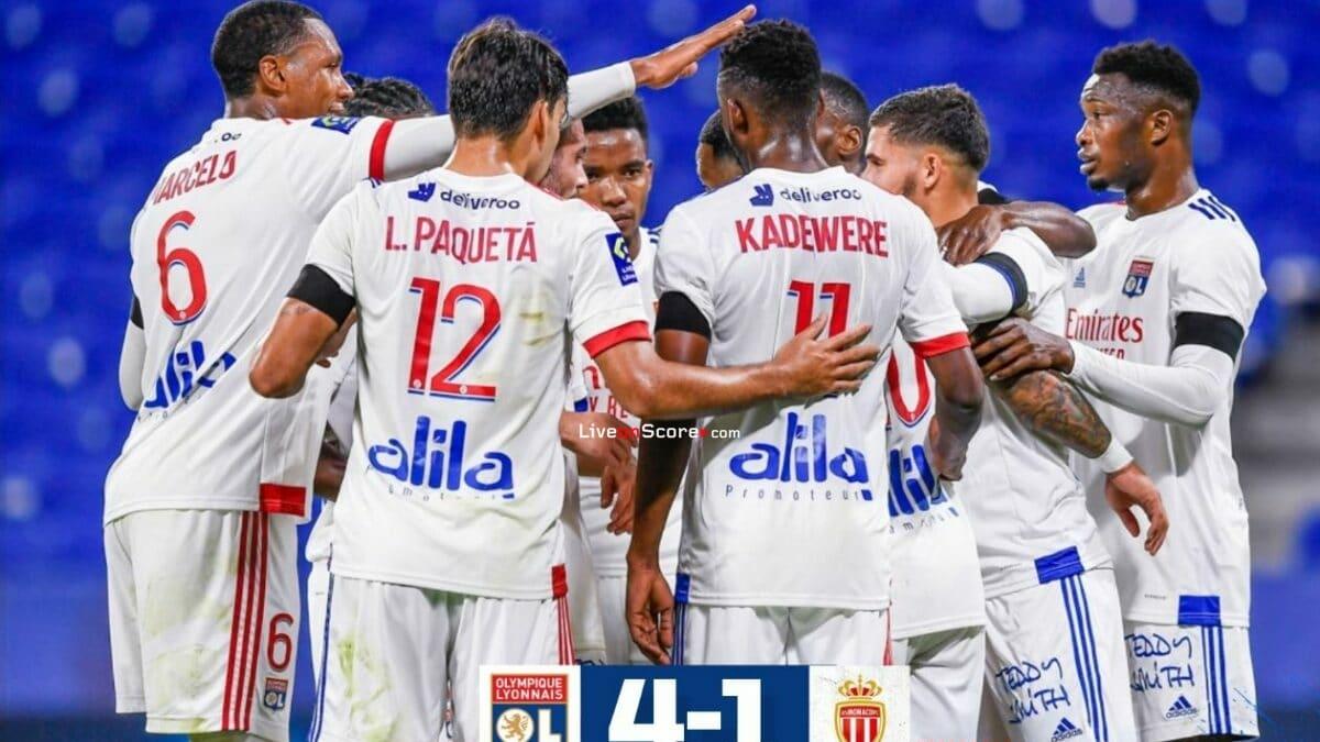 Video destacado completo de Lyon 4-1 Mónaco - Francia Ligue 1