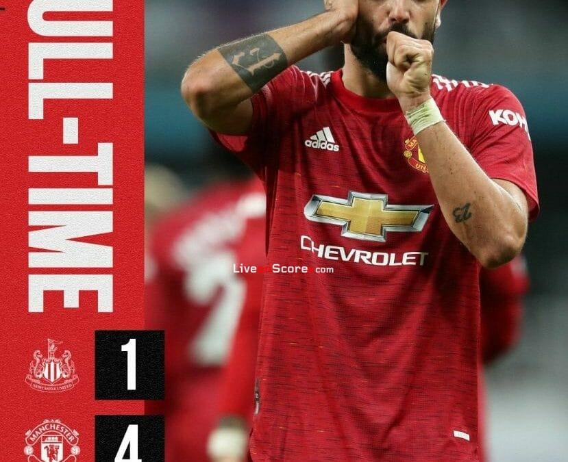 Newcastle 1-4 Manchester Utd Full Highlight Video – Premier League