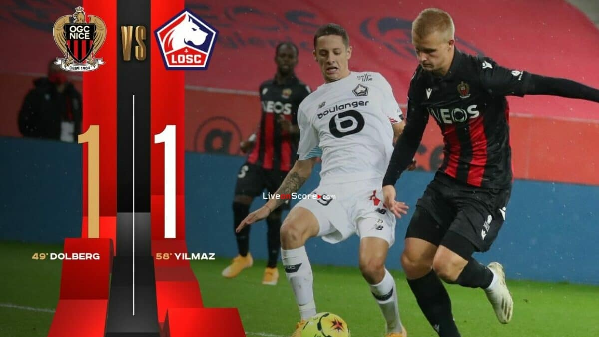 Nice 1-1 Lille Full Highlight Video – France Ligue 1