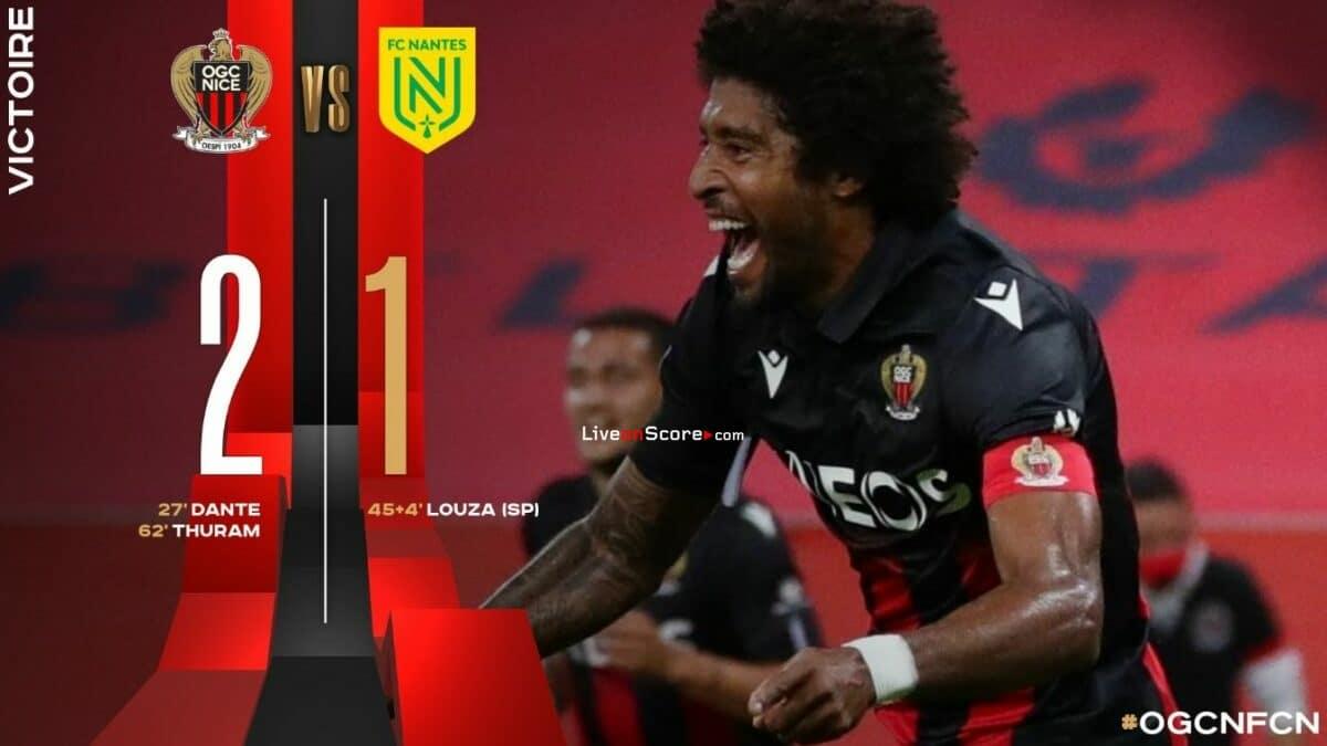 Nice 2-1 Nantes Highlight Video - Francia Ligue 1