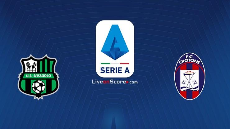 Sassuolo vs Crotone Preview and Prediction Live stream Serie Tim A 2020/21