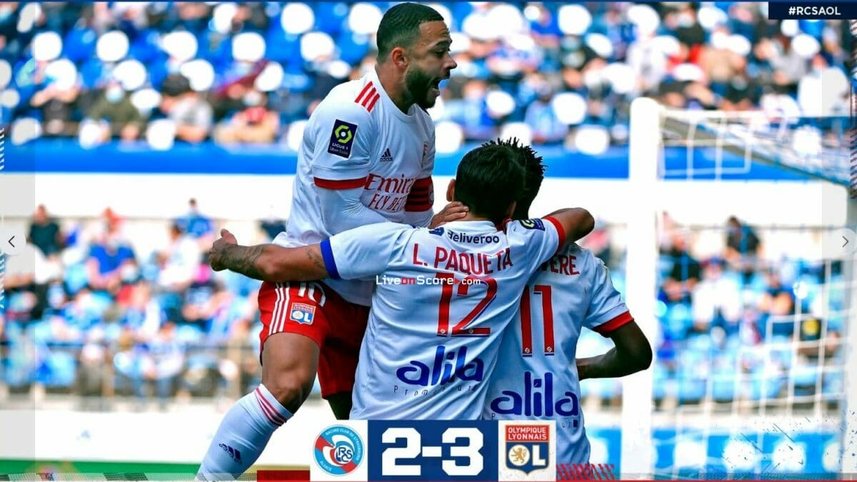 Estrasburgo 2-3 Lyon video completo destacado - Francia Ligue 1