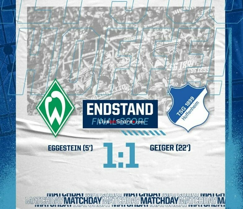 Werder Bremen 1-1 Hoffenheim Full Highlight Video – Bundesliga