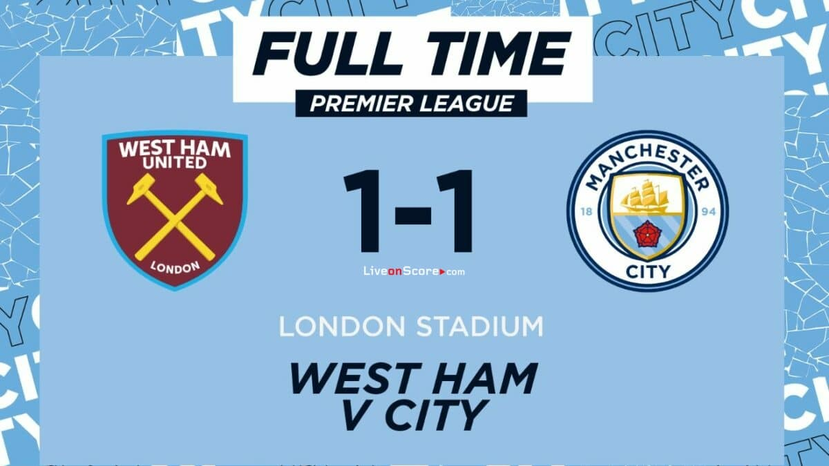 West Ham 1-1 Manchester City Full Highlight Video – Premier League