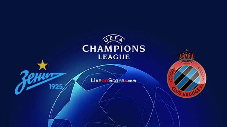 Zenit vs Club Brugge KV Preview and Prediction Live stream UEFA Champions League 2020/2021