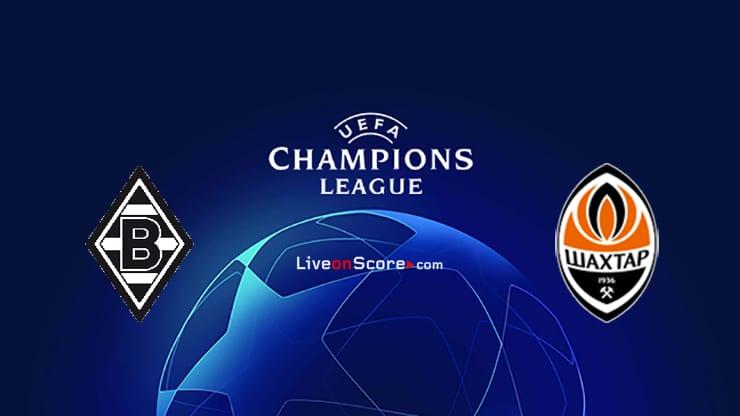 B. Monchengladbach vs Shakhtar Donetsk Preview and Prediction Live stream UEFA Champions League 2020/2021
