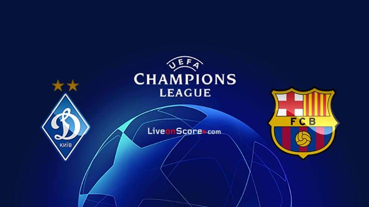 Dyn. Previa y predicción de Kiev vs Barcelona Transmision en vivo UEFA Champions League 2020/2021