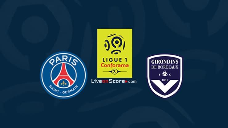 Paris SG vs Bordeaux Previa y predicción Transmision en vivo Ligue 1 2020-21
