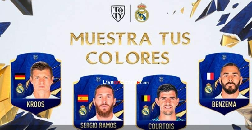 Ramos, Benzema, Kroos and Courtois nominated for EA SPORTS FIFA 21 Team of the Year