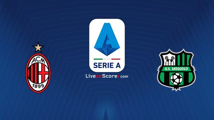 AC Milan vs Sassuolo Preview and Prediction Live stream Serie Tim A 2021