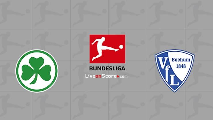 Greuther Furth vs Bochum Preview and Prediction Live stream Bundesliga 2021/2022
